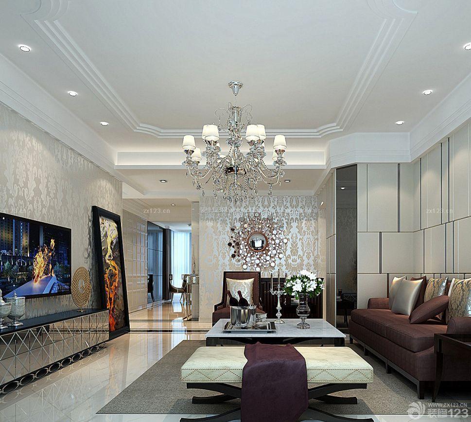 欧美风格室内装修_欧美风格家装90后房子室内客厅装修效果图