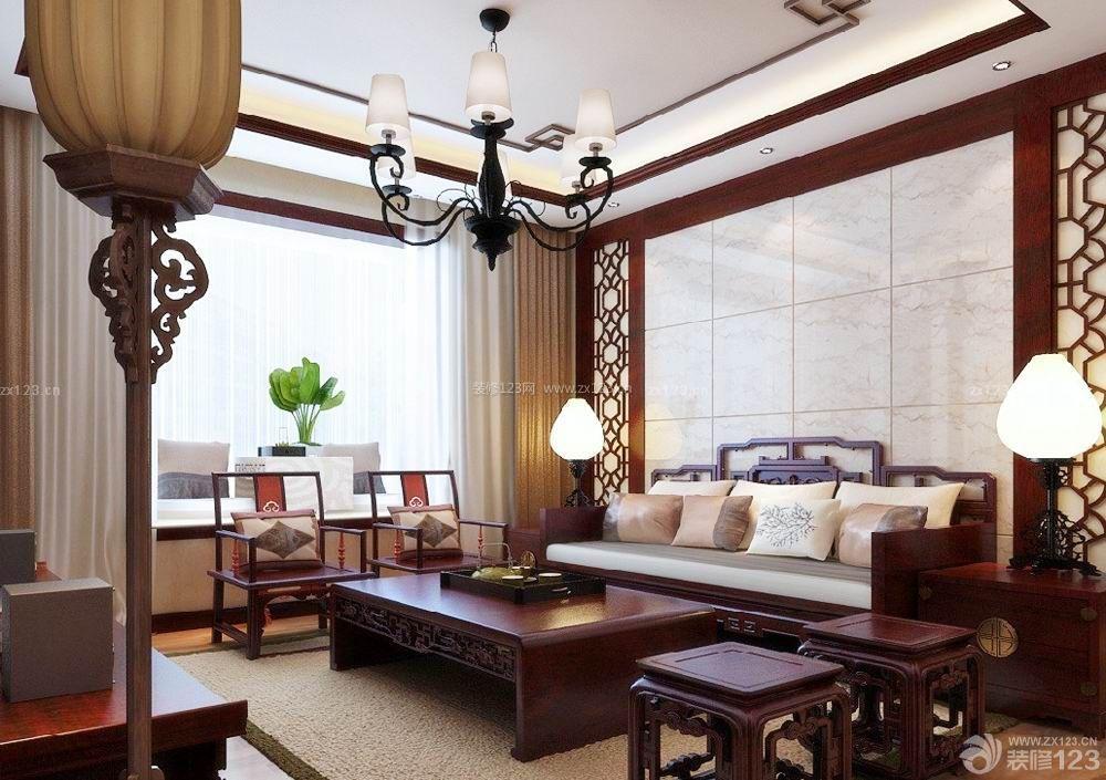 中式风格家装60平米两室一厅小户型装修效果图