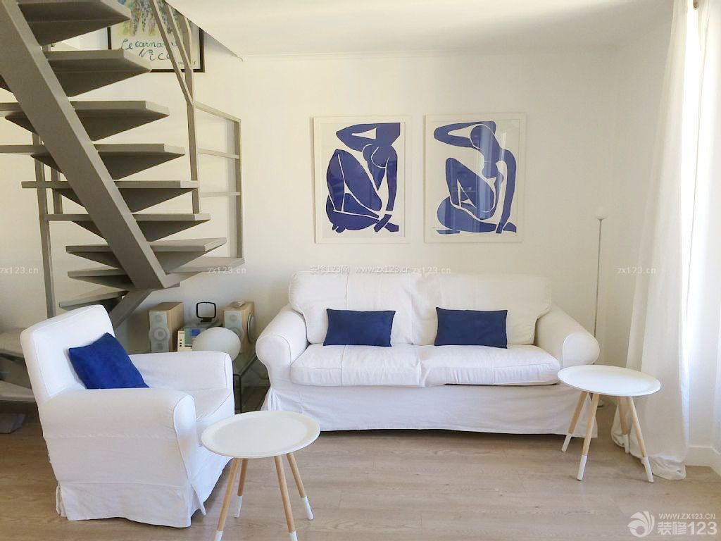 唯美小户型复式楼梯设计图图片