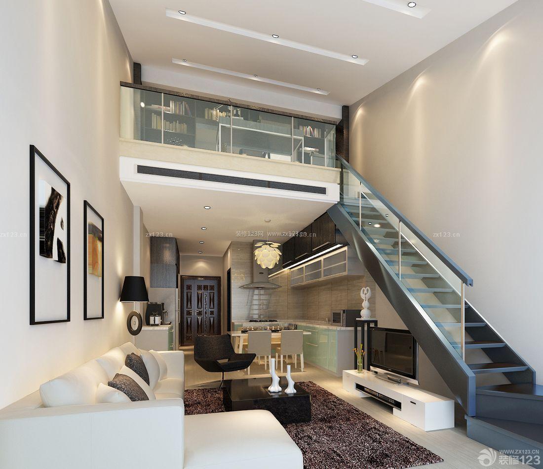 家装效果图 现代 最新现代风格90平米复式小户型装修图片大全 提供者图片