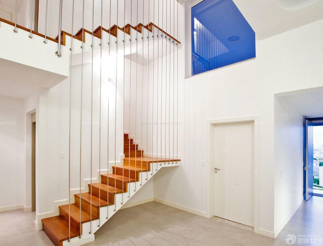 复式房子室内楼梯扶手装修设计图片