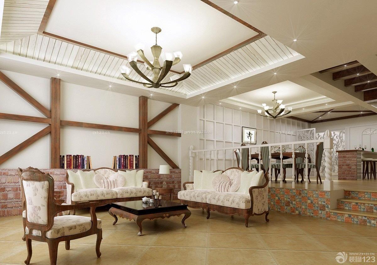 复式楼客厅吊顶房子吊顶图片效果图图片
