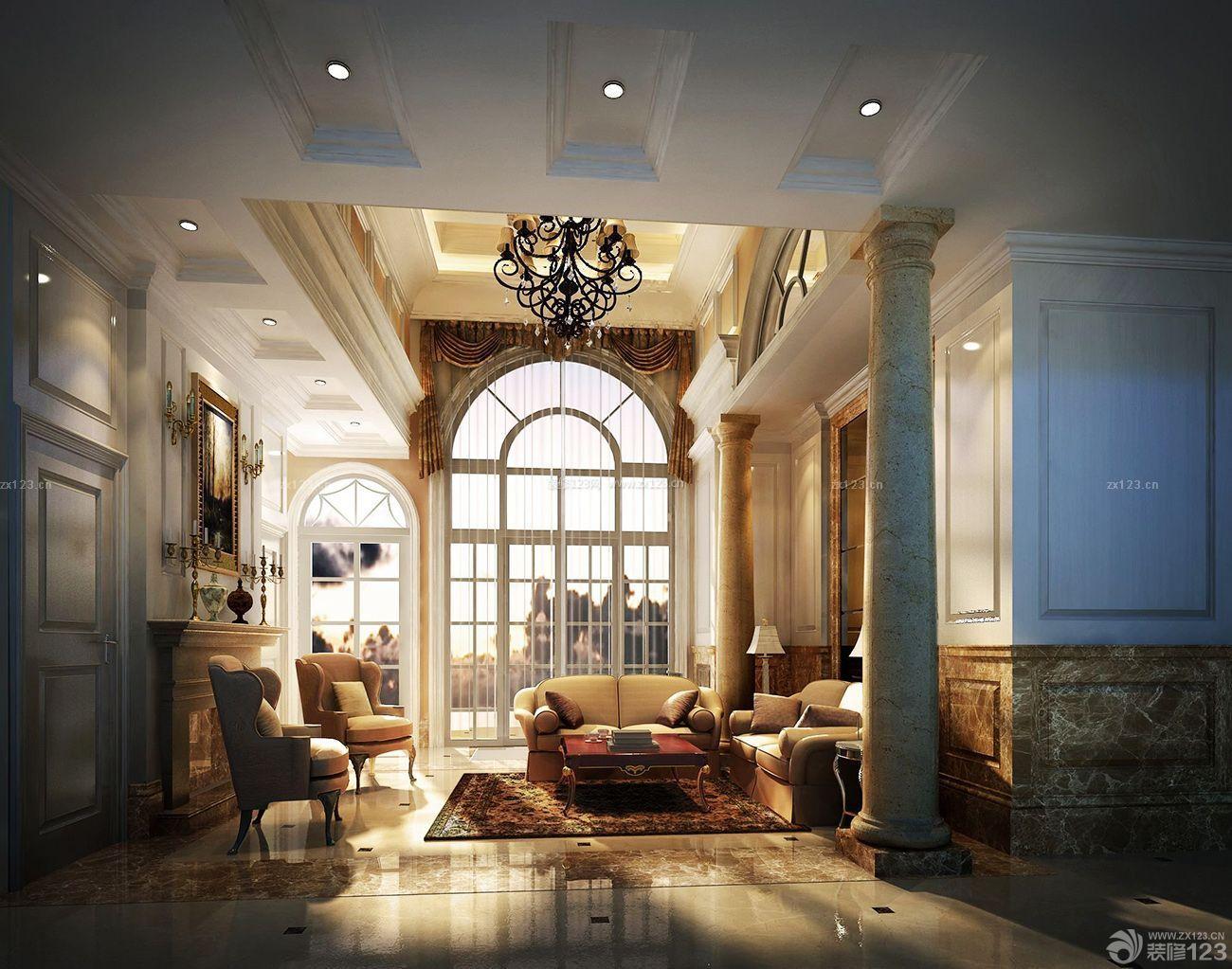 图片客厅门洞欧式别墅装修设计价格温泉佛冈别墅复式图片