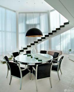 現代簡約黑白風格復式樓樓梯裝修效果圖