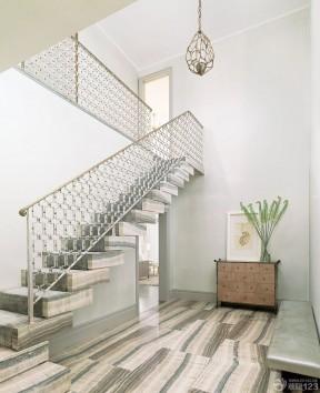 复式楼梯设计图 栏杆扶手装修效果图片