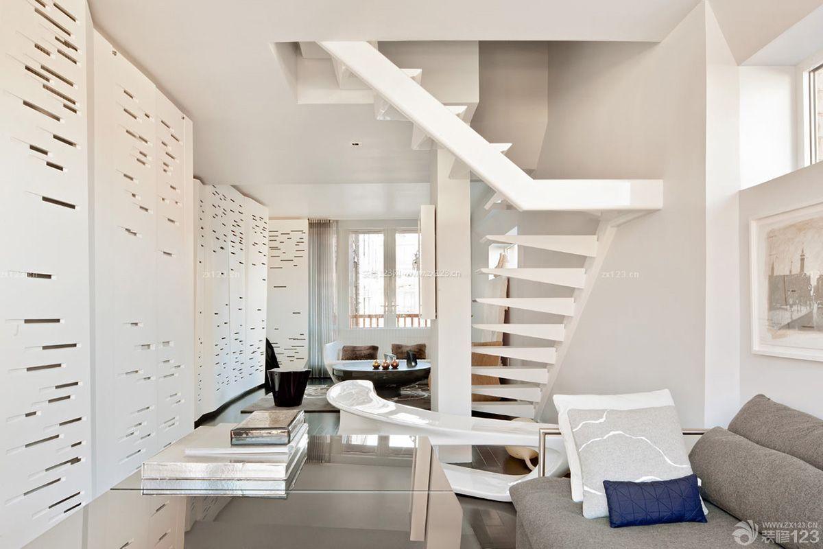 南京复式小户型_紧凑小户型创意复式楼梯设计效果图