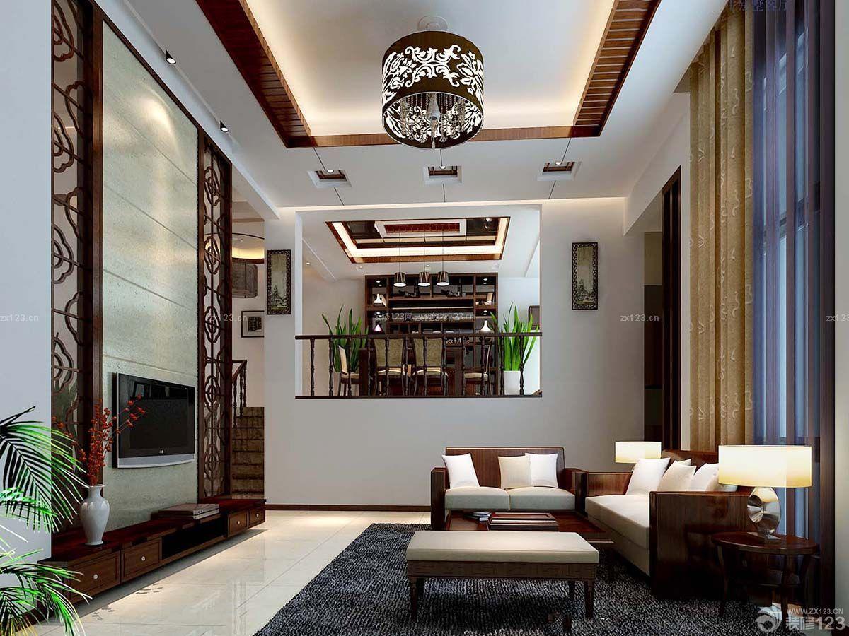 中欧混搭风格复式客厅装修设计效果图