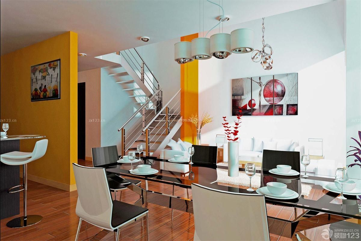 精美小户型复式房子装修设计图图片