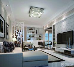 现代美式风格90平方米小三房装修效果图