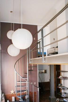 復式樓梯設計效果圖 不銹鋼樓梯扶手