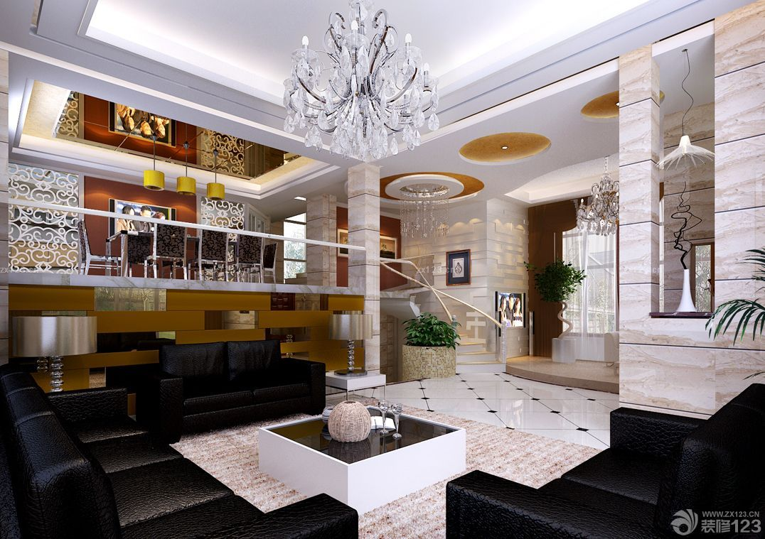 四室两厅两卫家装客厅装修设计效果图片