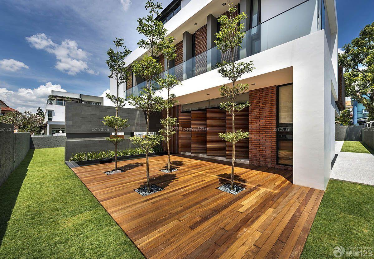 现代别墅庭院景观设计_现代别墅庭院设计案例_现代别墅庭院设计案例分享展示