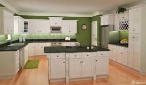 金牌整體廚房 綠色櫥柜裝修效果圖片