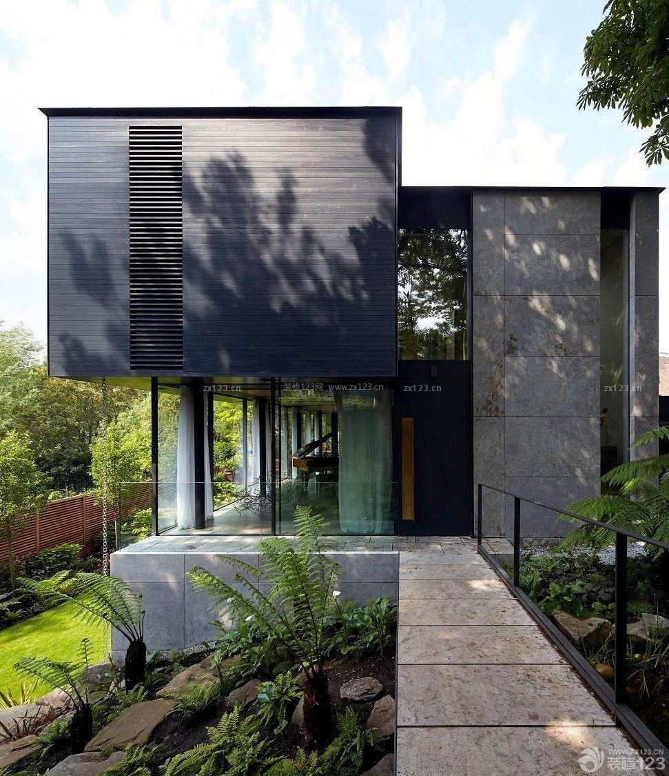 自建三层小别墅外观设计图片_装修123效果图