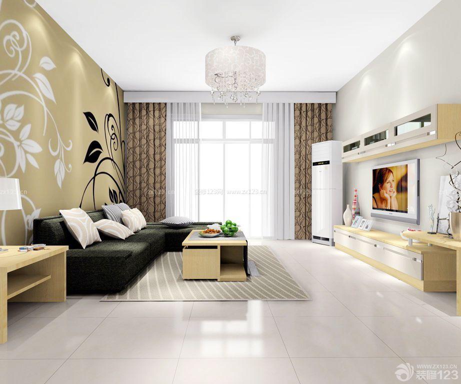 3万90平米房屋现代简单客厅装修效果图