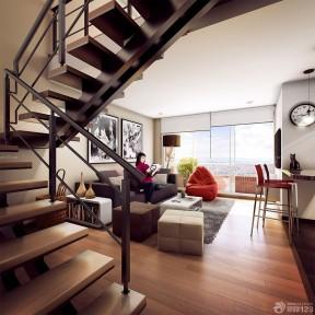 装修效果图 房子楼梯装修    房子室内楼梯间装修图片2017  1195
