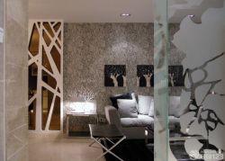 現代風格客廳沙發背景墻樣板房