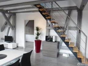 復式樓裝修設計圖 不銹鋼樓梯扶手圖片