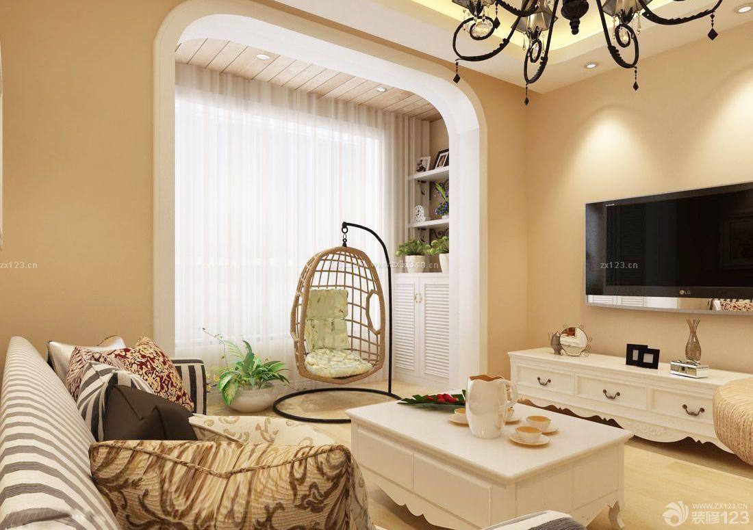 现代风格客厅阳台栏杆装修效果图片