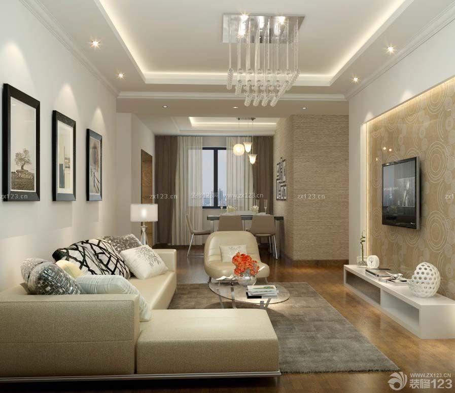 现代家装风格90平三室一厅房屋装修效果图