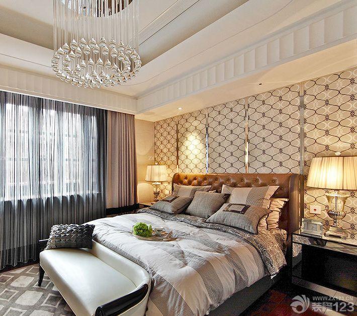 90平米3居室房屋简欧式卧室装修效果图