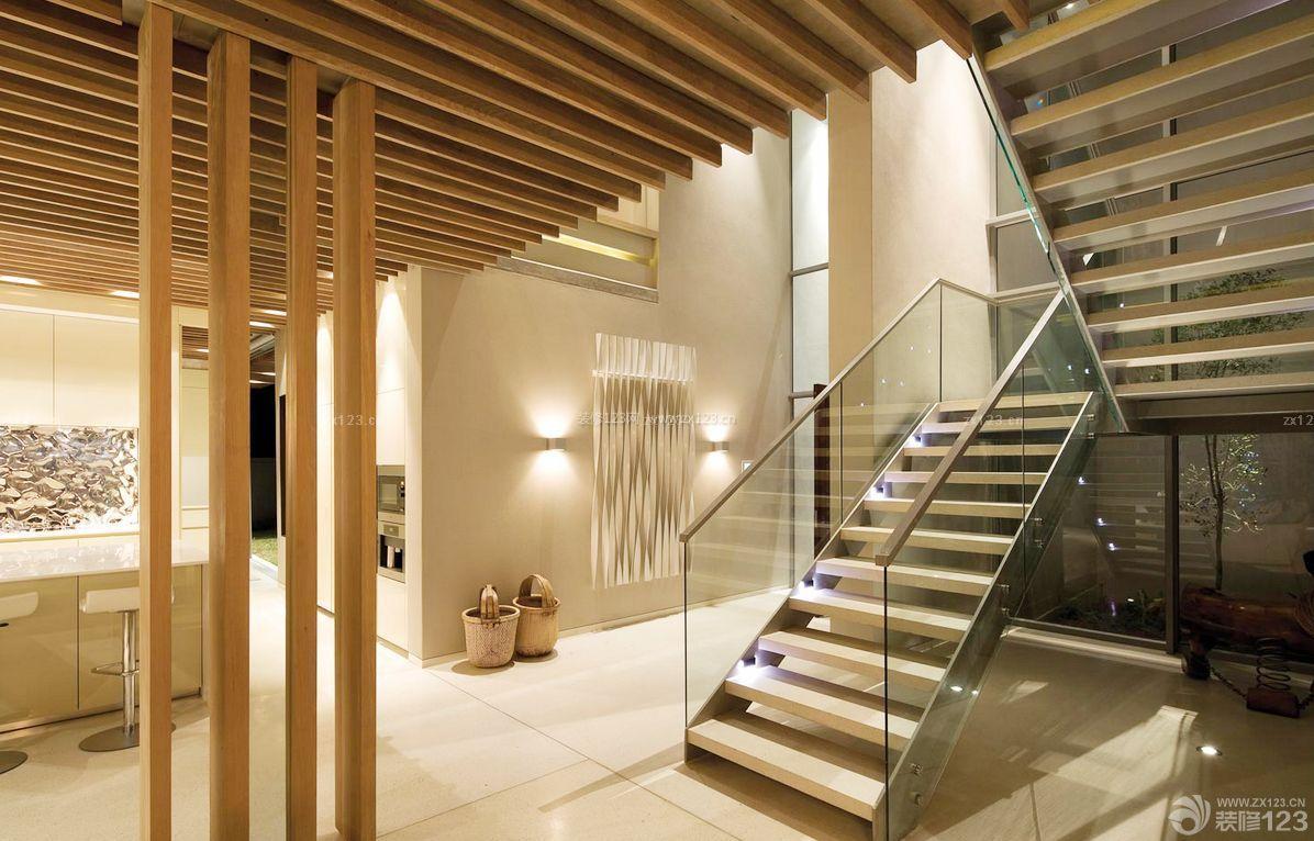 时尚复式楼装修样板间楼梯设计效果图图片