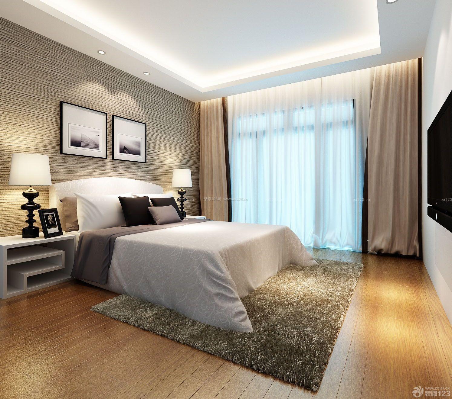 90平米3居室房屋现代卧室装修效果图