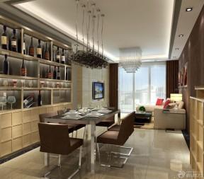 90平米3居室房屋裝修效果圖 家庭餐廳酒柜裝修