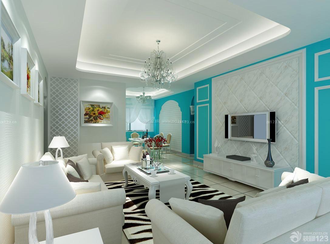 家装效果图客厅电视背景墙造型设计