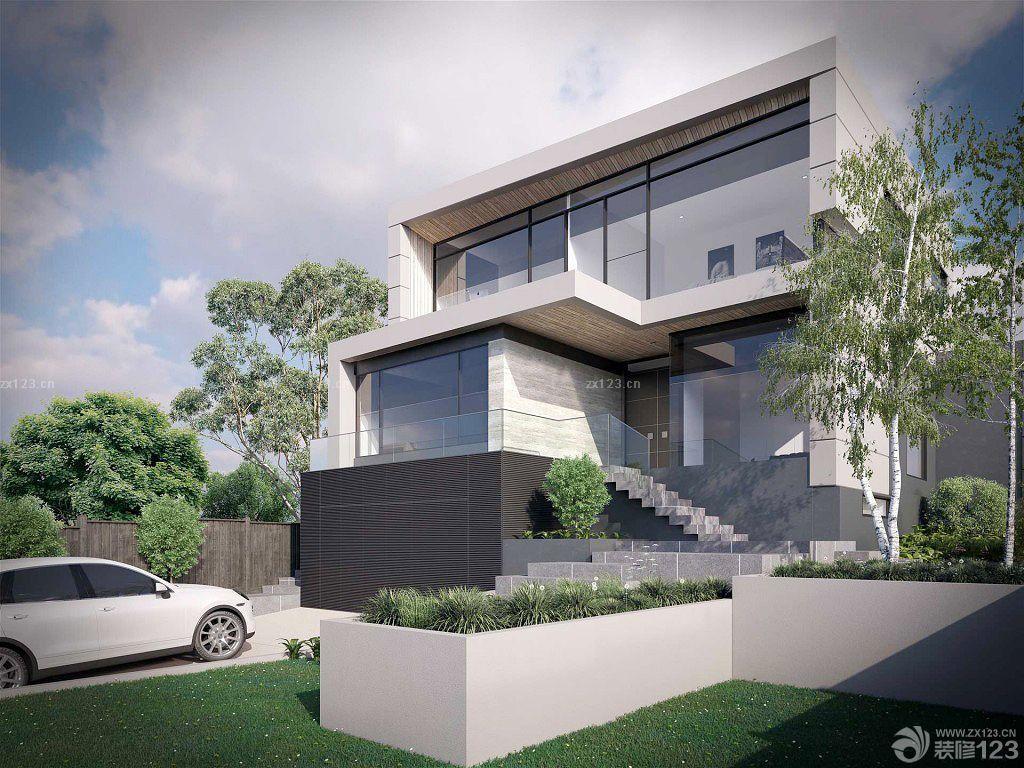 最新农村三层欧式别墅外观效果图