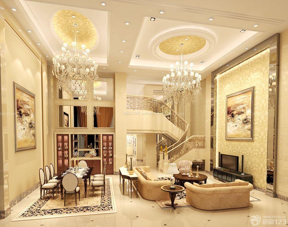经济型别墅电视背景墙装饰效果图片