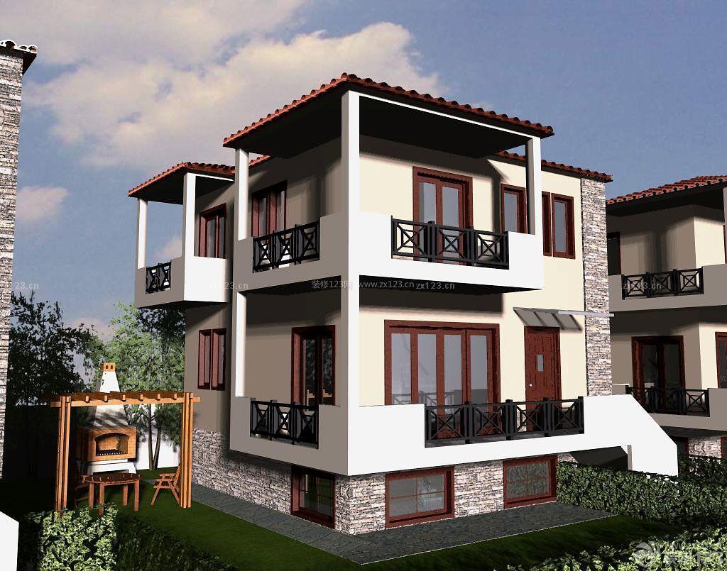 农村中式别墅建筑家装外观设计效果图