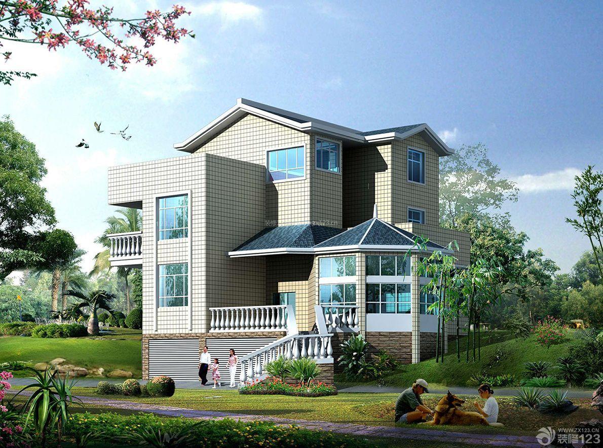 农村别墅建筑自建房屋设计效果图