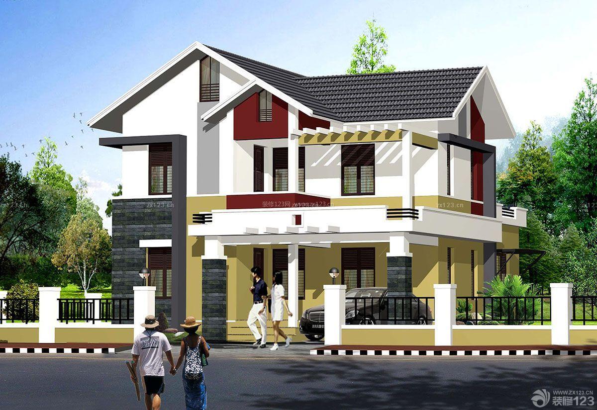 农村三层别墅自建房屋外观设计效果图
