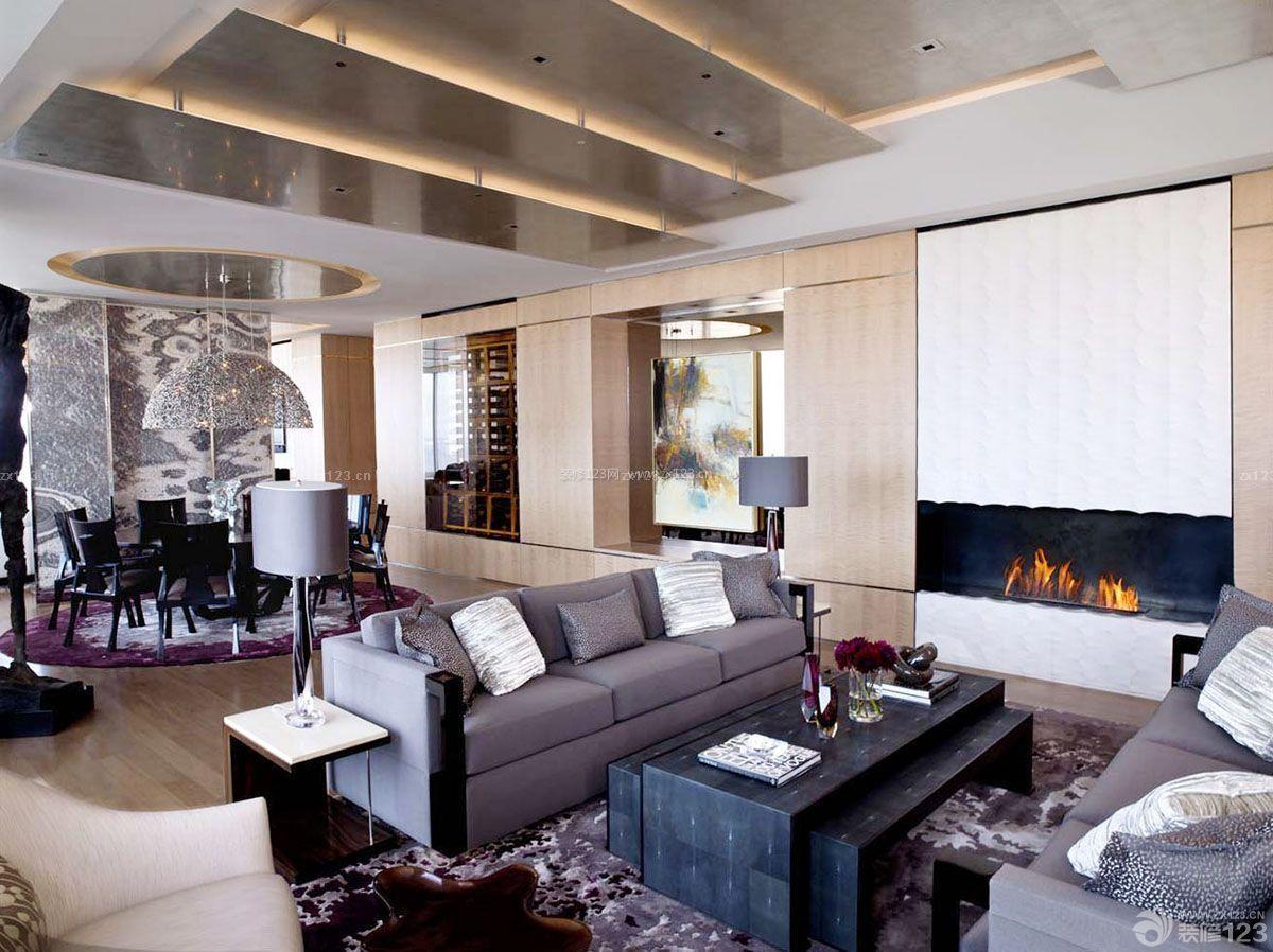 创意复式公寓吊顶设计装修效果图图片