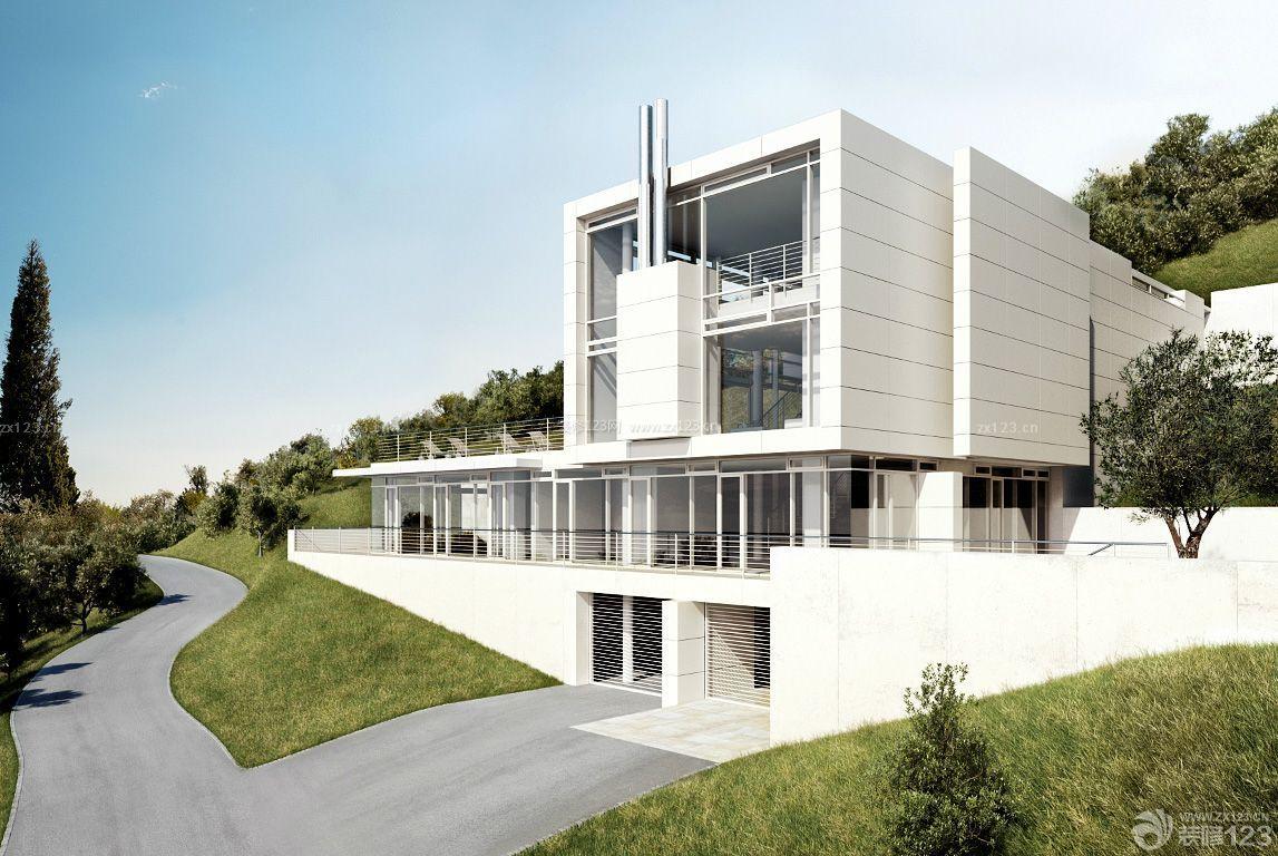 农村三层别墅简约家居外观设计图片