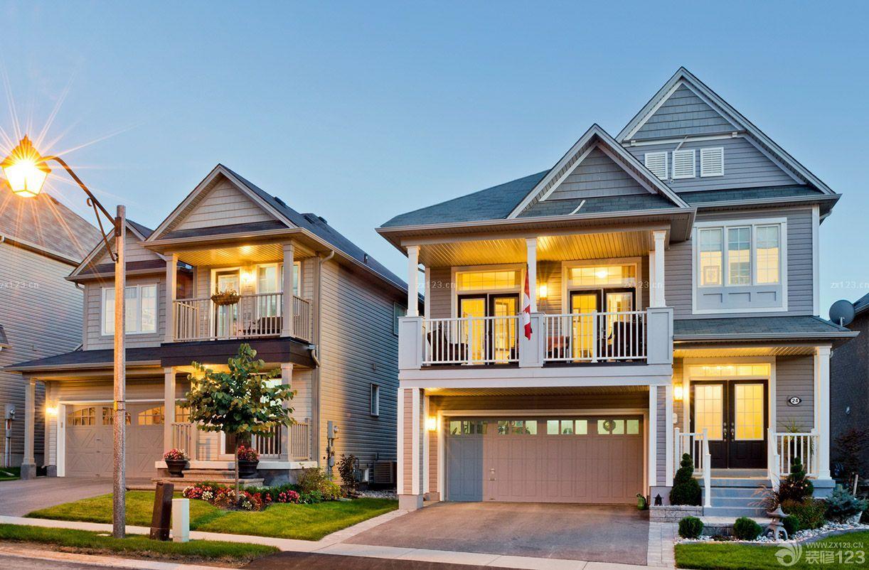 小美式风格农村二层别墅设计图