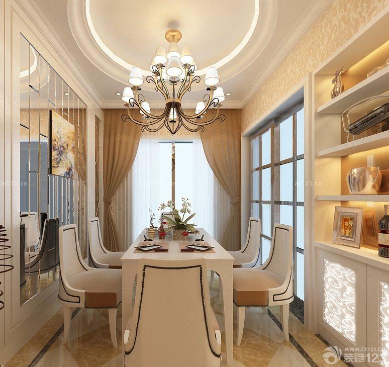 家装欧式风格90小户型客厅隔断装修效果图图片