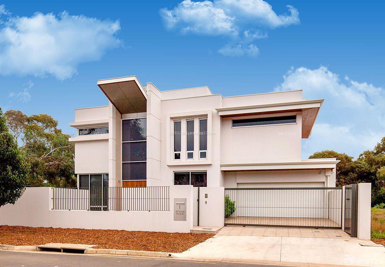 现代美式风格农村三层别墅外观图片