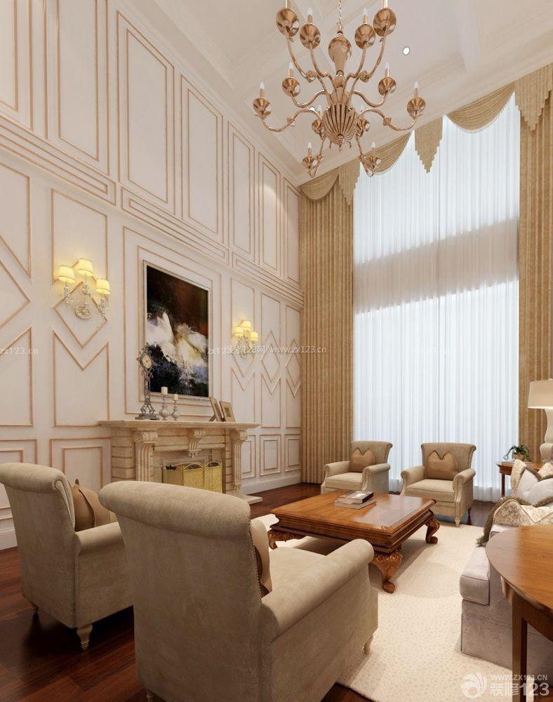 两层别墅客厅墙面装饰画设计图