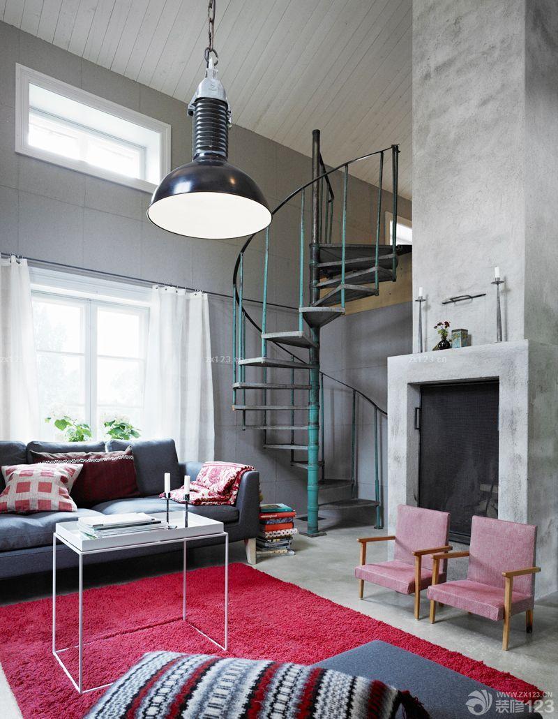 欧式风格小户型复式楼装修效果图大全2015图片欣赏