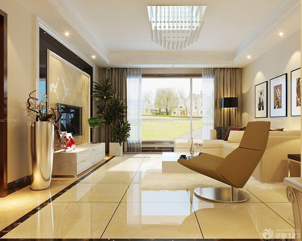 中式风格家装客厅沙发背景墙挂画装修效果图片