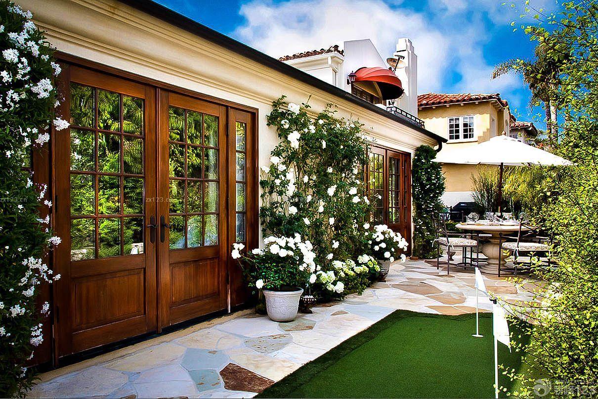 美式古典风格联排别墅庭院有什么可以免费领红包装修效果图片
