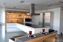 開放式廚房櫥柜中島裝修設計效果圖片