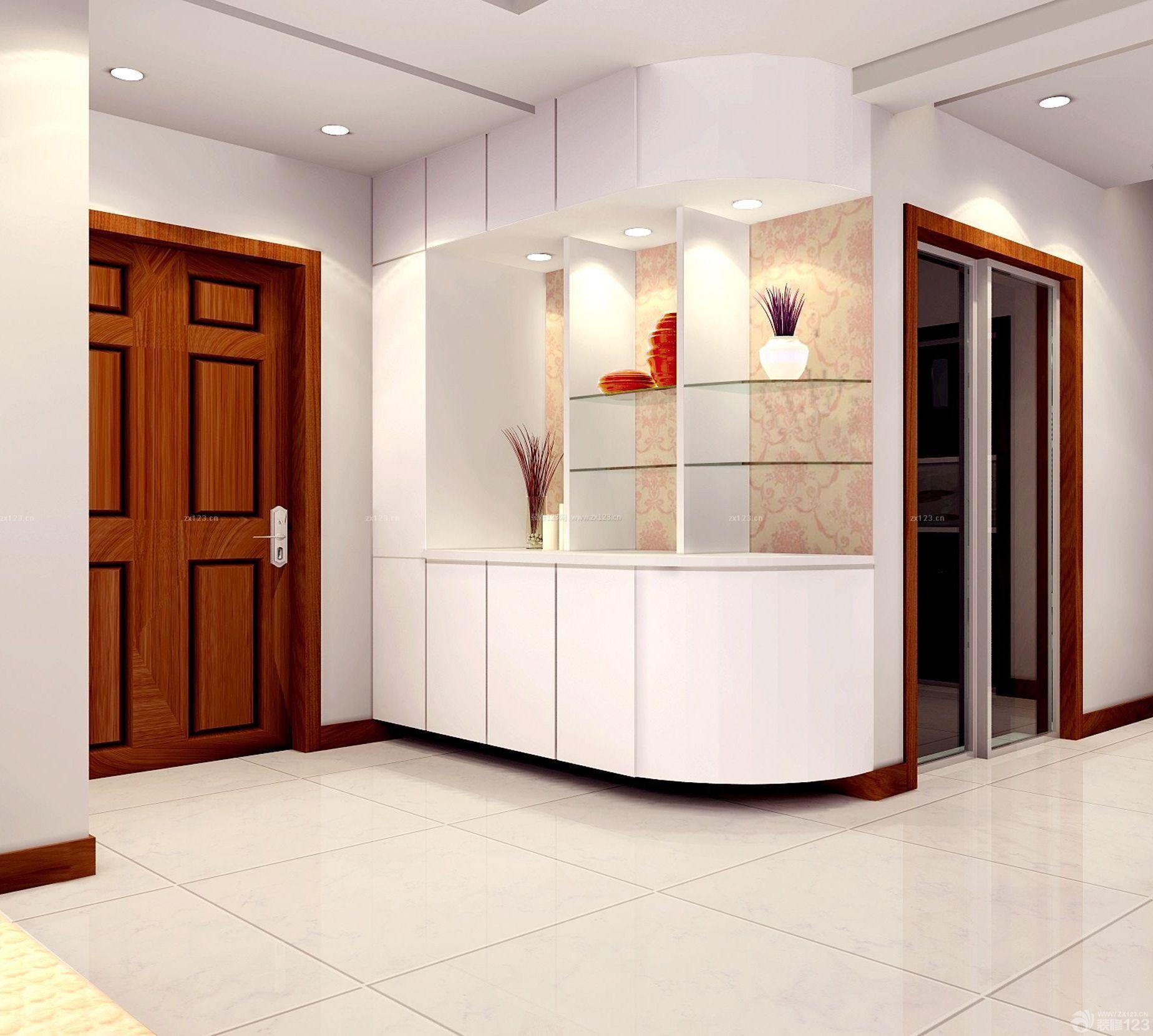 现代简约式房屋一进门鞋柜装修效果图片