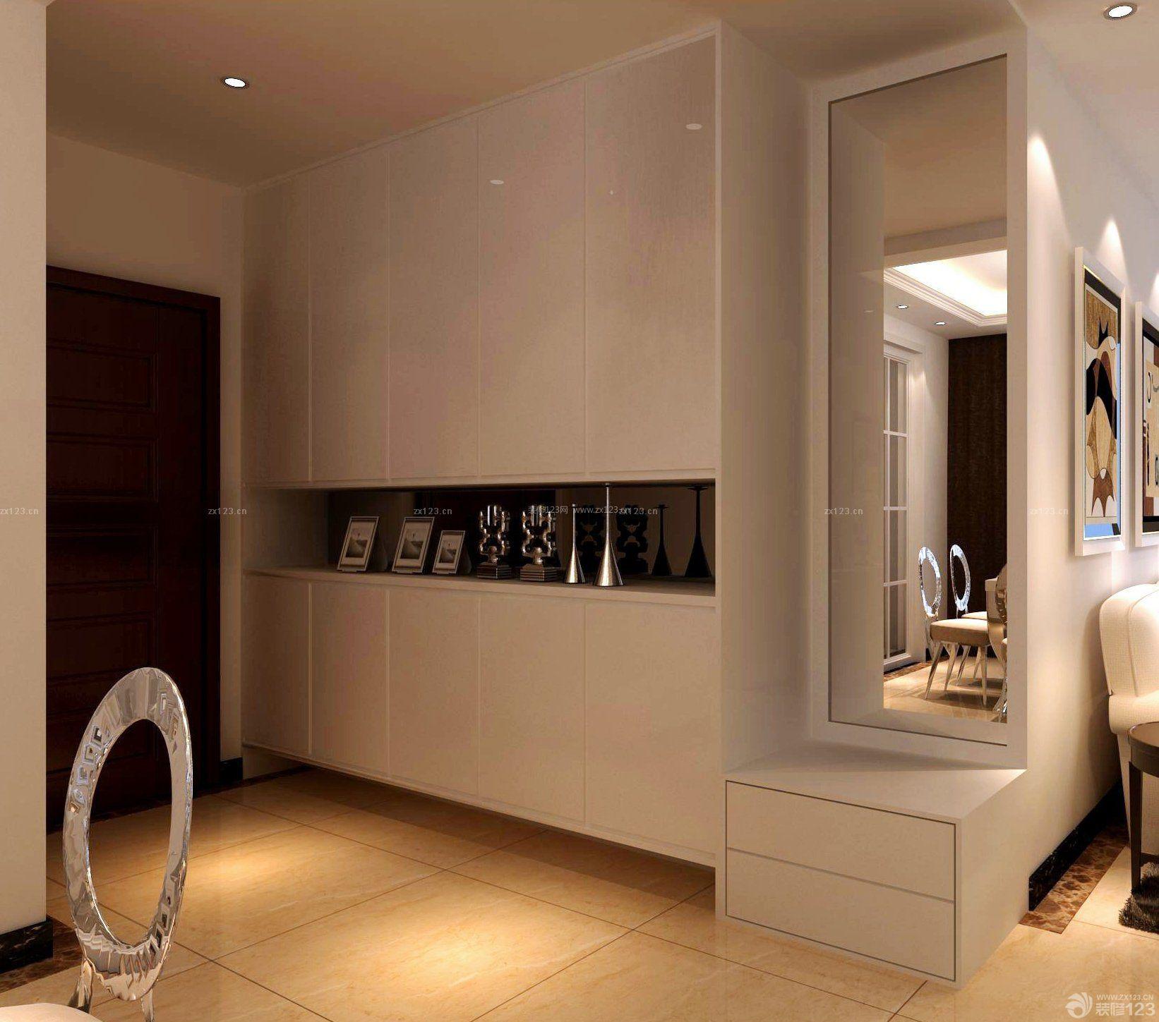 现代风格设计房屋室内鞋柜装修效果图2015