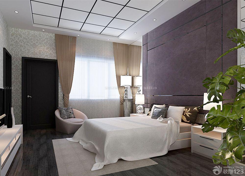 农村自建别墅卧室床头背景墙设计效果图片