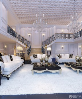 别墅室内装修效果图 室内楼梯设计