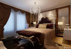 140平米四室兩廳兩衛裝修 咖啡色窗簾裝修效果圖片