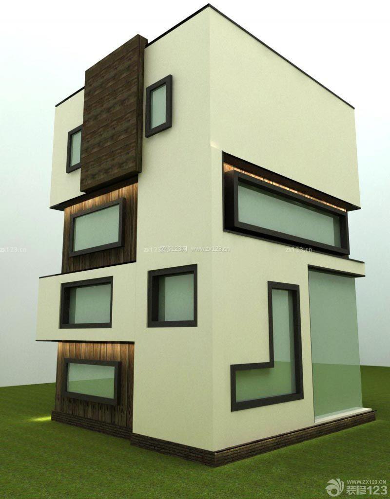 独栋小户型别墅外观设计装修图_装修123效果图